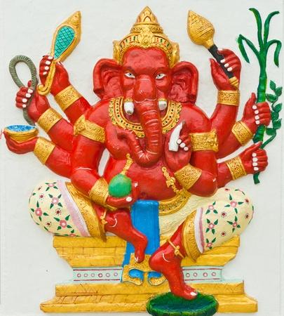 parvati: Indian or Hindu God at Wat Saman, Chachoengsao, Thailand