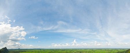 Panorama view on mountain Foto de archivo