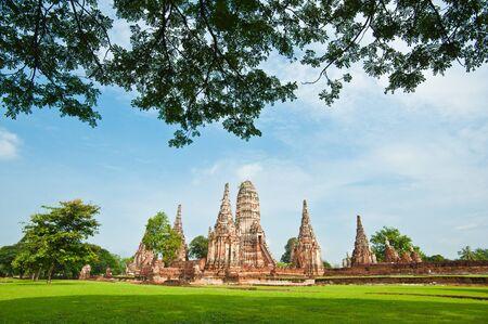 prayer tower: Pagoda at Wat Chaiwattanaram Temple, Ayutthaya, Thailand