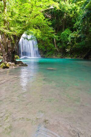 eravan: Eravan Waterfall, Kanchanabury, Thailand Stock Photo