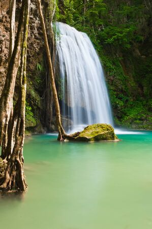 waterscape: Eravan Waterfall, Kanchanabury, Thailand Stock Photo