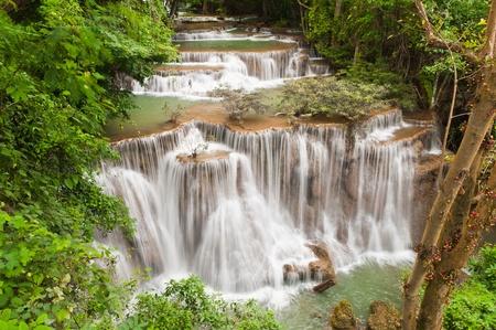 Huay mae Kamin waterfall, Kanchanaburi, Thailand photo