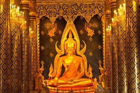 Phra Phut Chin Rat at Wat Phra Sri Rattana Mahathat Temple, Phitsanulok, Thailand, (The Most Beautiful Buddha Statue in Thailand) Stock Photo - 11309667