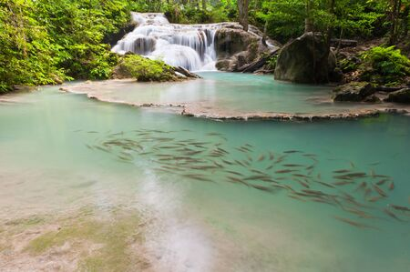 Eravan Waterfall, Kanchanabury, Thailand photo