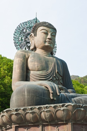 Buddha in the Sinheungsa Temple at Seoraksan National Park, South Korea