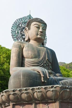 Buddha in the Sinheungsa Temple at Seoraksan National Park, South Korea