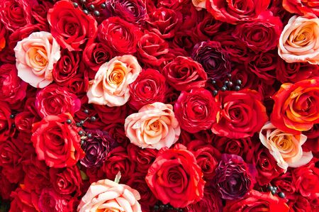 Bunch of red roses photo
