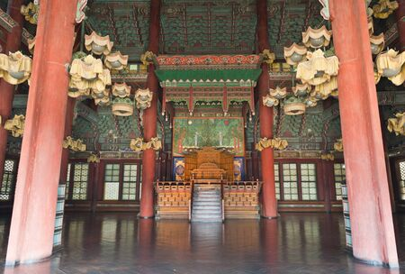Inside of The Changdeokgung palace in Seoul, South Korea