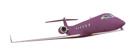 Purple airplane isolated on white with clipping path  photo