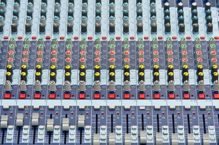 dubbing: Professional Audio Mixer Stock Photo