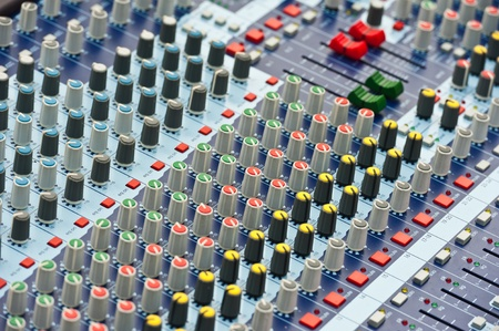 dubbing: Professional Audio Mixer Stock Photo