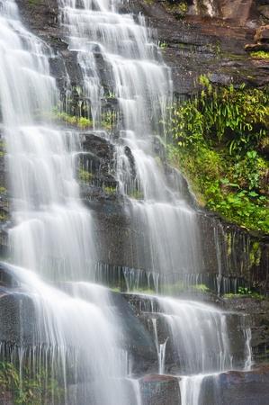 kradueng: Khunphong Waterfall in deep jungle, Phu Kradueng National Park, Loei Province, Thailand