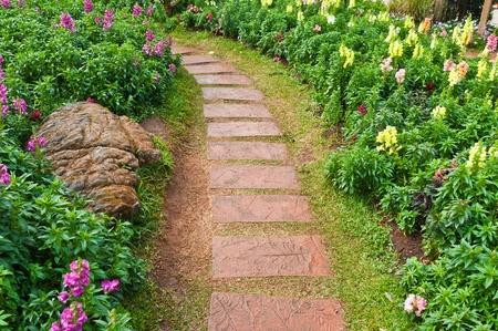 Steingehweg im Garten