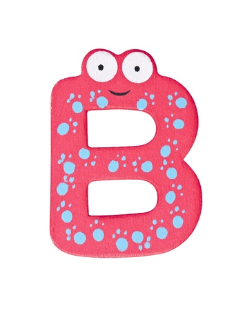 Colorful wooden alphabet letter B