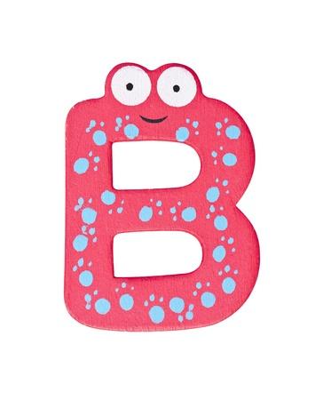 Colorful wooden alphabet letter B photo