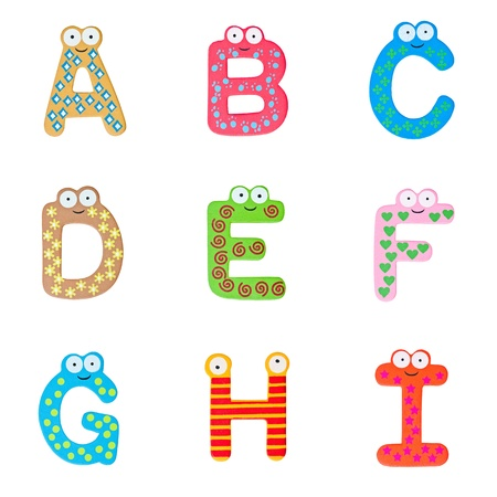 Letters of the British alphabet made of wood Stock Photo - 13596716