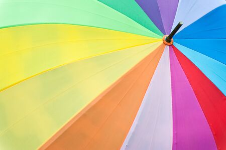 Colorful umbrella on grass photo