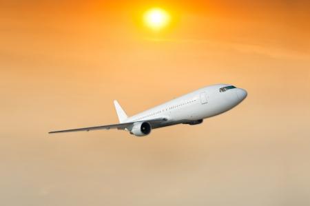 Plane in the sky  photo