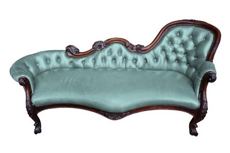 blue leather sofa: Vintage poltrona blu su bianco