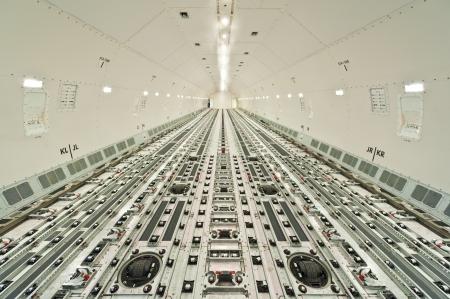 handling: inside air cargo freighter
