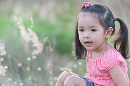 Portrait of little Asian girl Stock Photo - 14096222