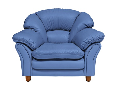 modern sofa: Blue sofa  Stock Photo
