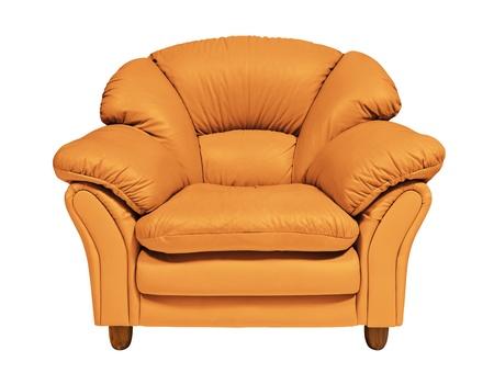 Oranje sofa Stockfoto