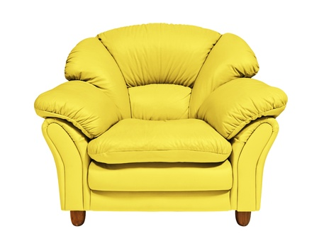 Yellow sofa photo