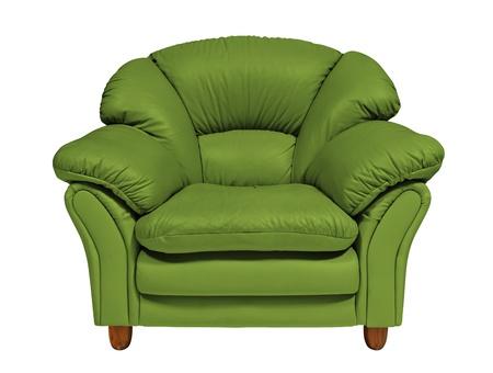 double bed: Green sofa  Stock Photo