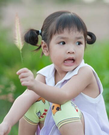 Portrait of little Asian girl Stock Photo - 14109557