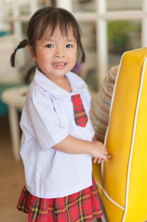 Little Asian Schoolgirl Stock Photo 14109572