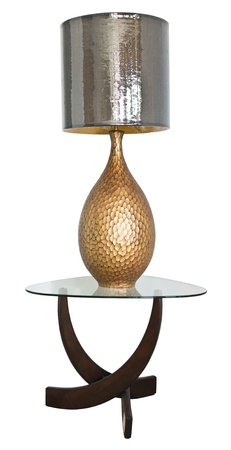 home accents: Lamp on table with path