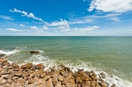Tropical beach with stone and sky Stock Photo - 14381543
