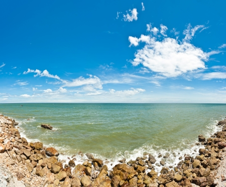 Sea panorama at thailand photo