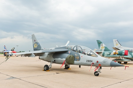 BANGKOK - JUNE 30 : Alpha Jet on display at The Centennial of RTAF Forefathers' Aviation on JUNE 30, 2012, Don Muang Airport, Bangkok, Thailand