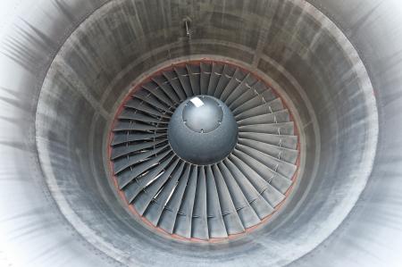 Big turbine blades of an aircraft photo