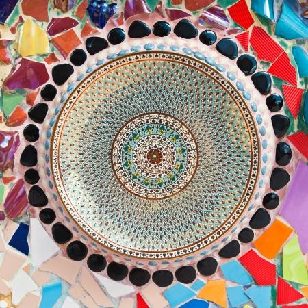texture of ceramic dish photo