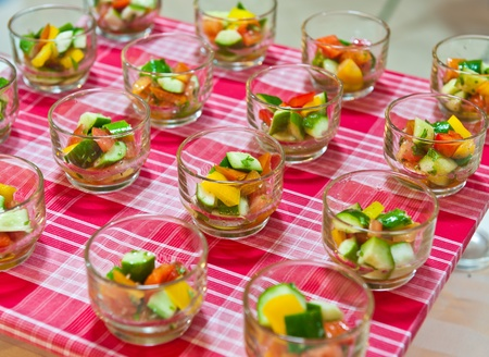 formal party: Appetizer of vegetable Stock Photo