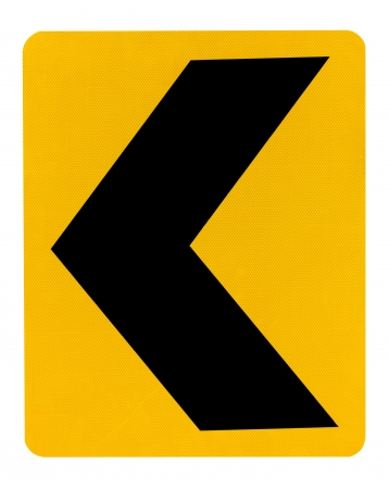 Yellow and black warning sign photo