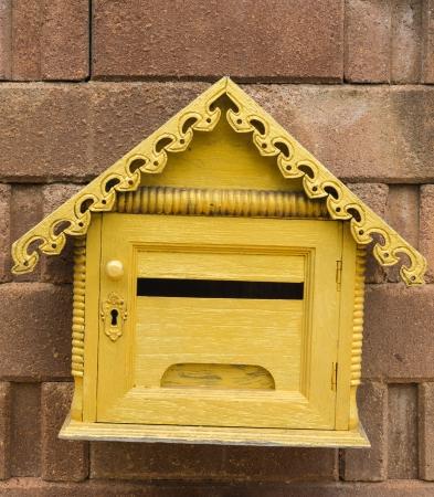 Golden mail box Stock Photo - 15797365