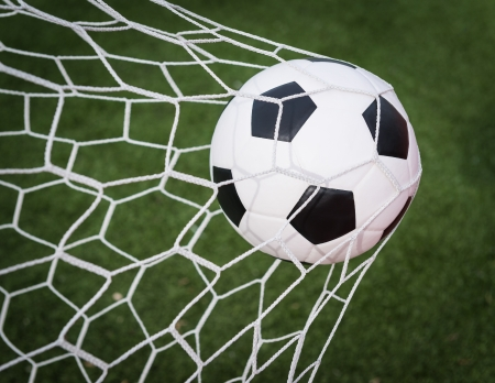 soccer ball in net Stock Photo - 15829027