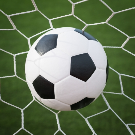 soccer ball in net Stock Photo - 15829026