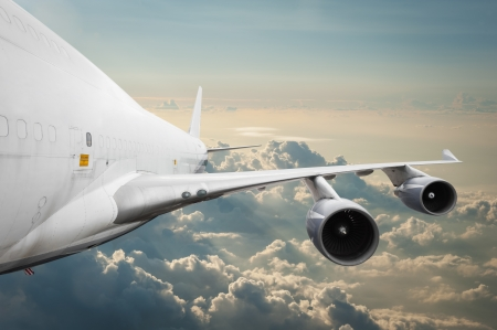 Big airliner in the sky