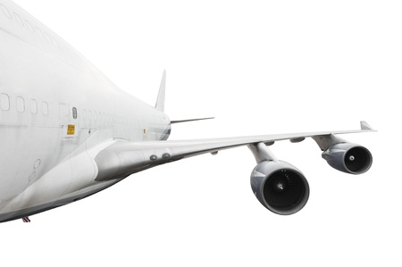 boing: big airplane on white with clipping path Stock Photo