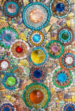 colorful ceramic pattern background photo