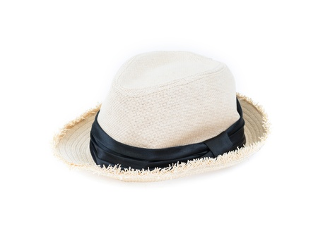 white hat on white background photo