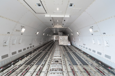 cargo container: inside air cargo freighter