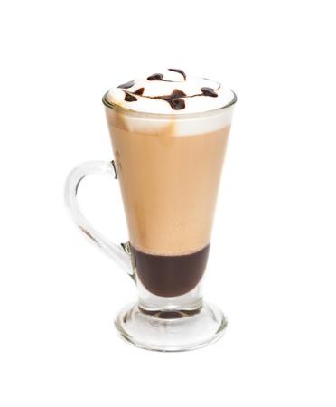 ホイップ クリーム入りアイス コーヒー 写真素材