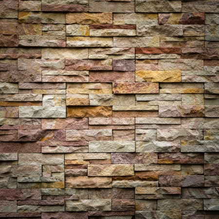 exterior walls: pattern of decorative slate stone wall surface