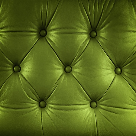 green couch: seamless green leather texture Stock Photo
